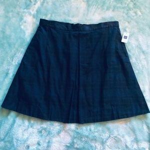NWT GAP | Blue Black Plaid Schoolgirl Style Skirt
